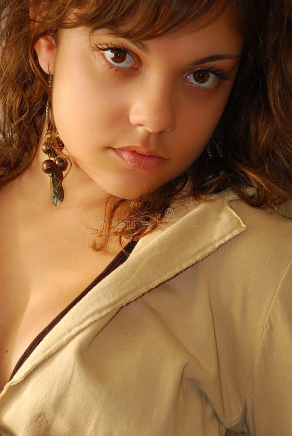 Jeune modèle de mode photographie stock libre de droits