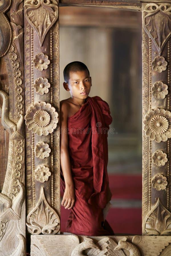 Jeune moine Myanmar Birmanie images libres de droits