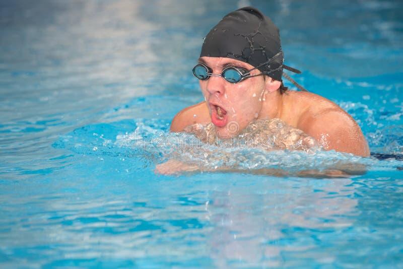 Jeune nageur adulte photo stock