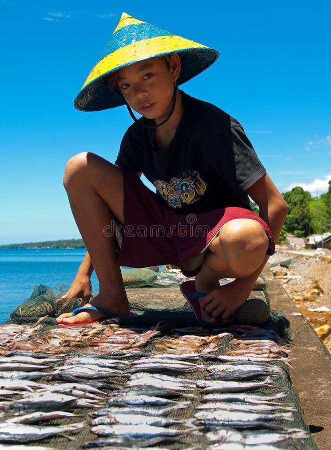 Jeune pêcheur, Philippines 2 photos stock