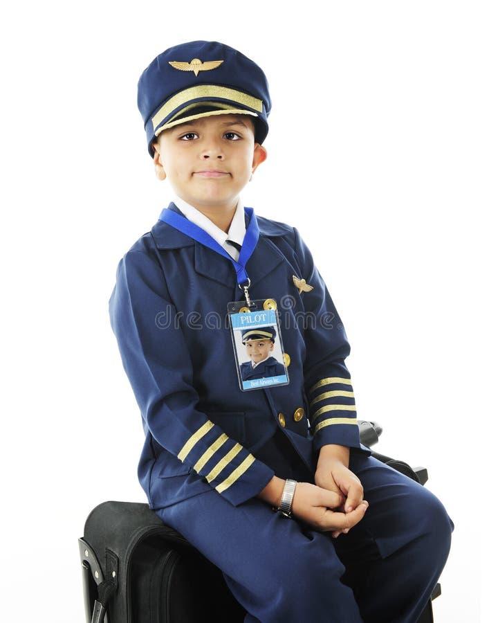 Jeune pilote de attente photographie stock libre de droits