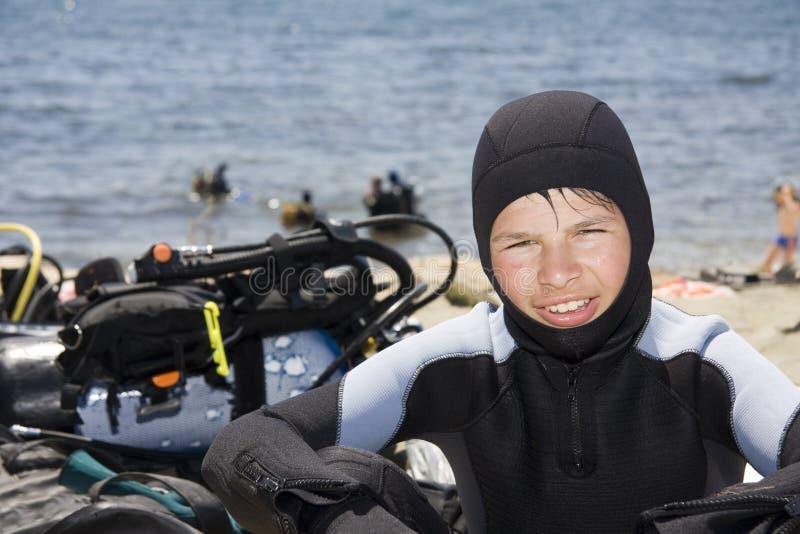 Jeune plongeur image libre de droits