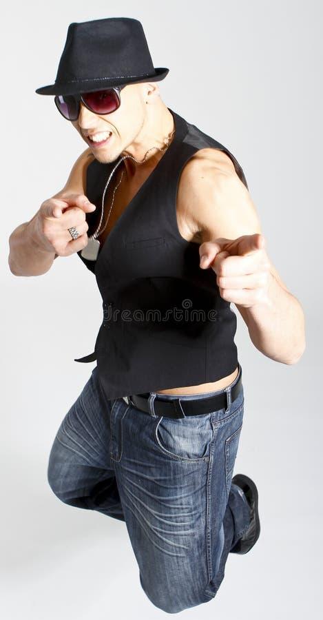 Jeune pointage de danseur photos libres de droits