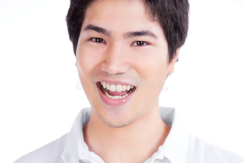 Jeune portrait asiatique d'homme images stock