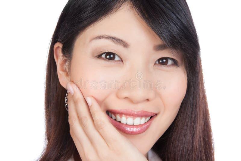 Jeune portrait asiatique de femme photo stock