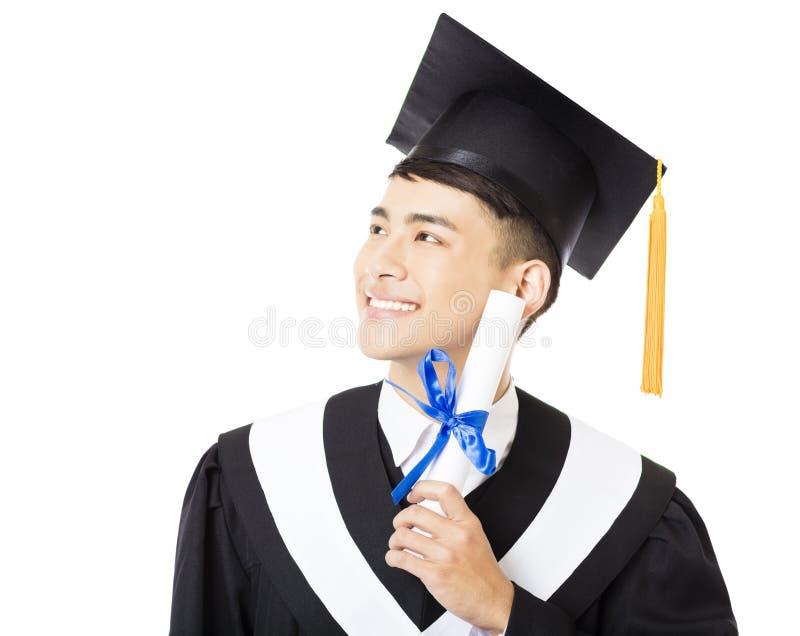 jeune portrait masculin de diplômé d'université photos libres de droits