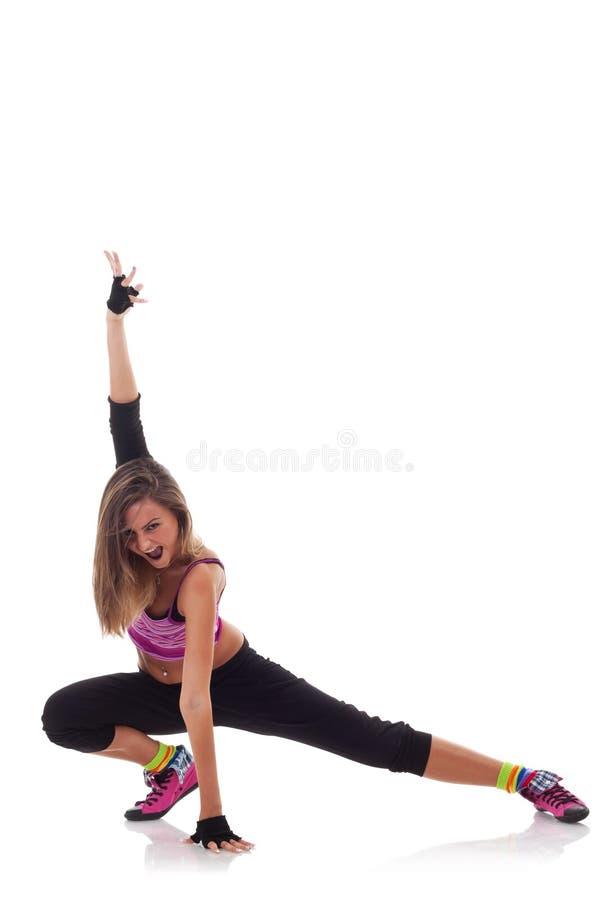 Jeune pose de danseur de hip-hop image stock