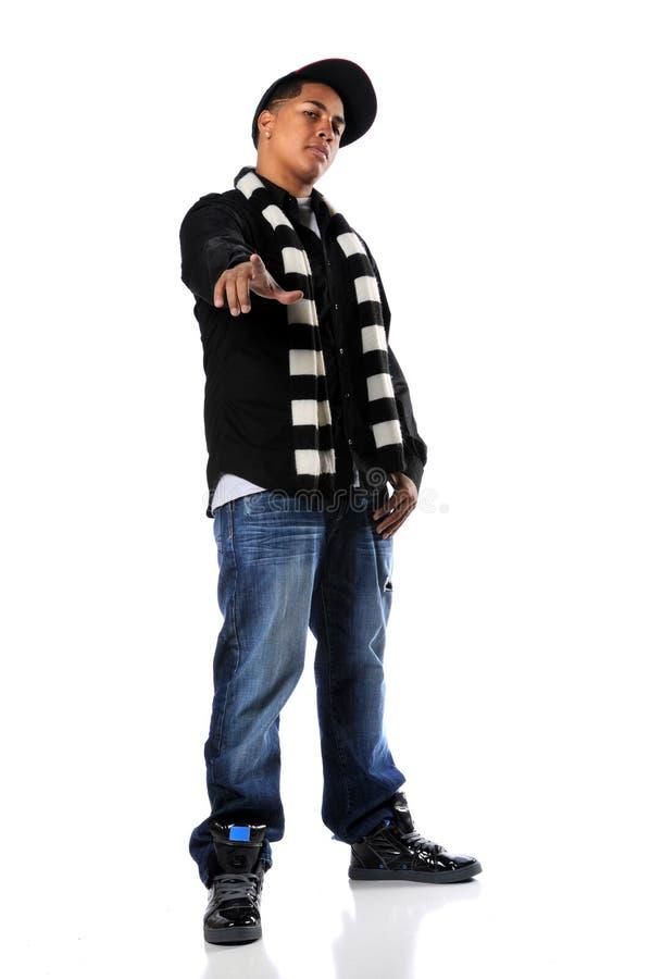 Jeune position d'homme de Hip-Hop images libres de droits
