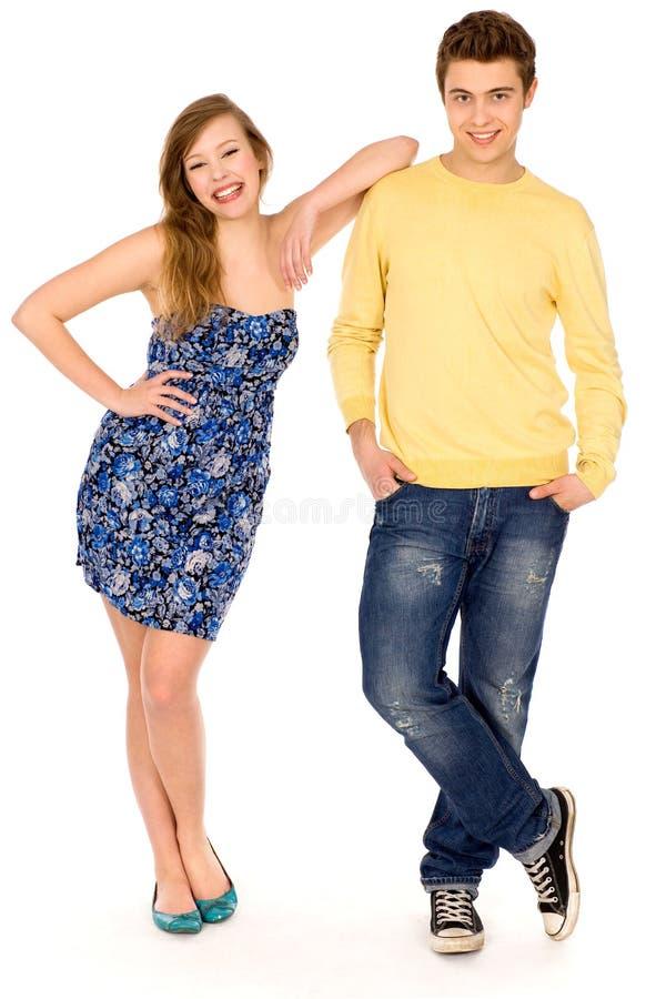 Jeune position de couples photos stock