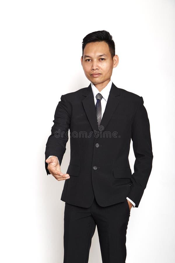 Jeune prise de contact d'homme d'affaires photos stock