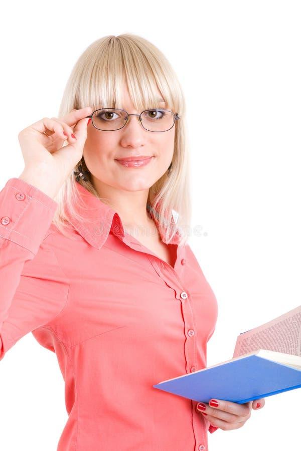 Jeune professeur vous regardant photographie stock libre de droits