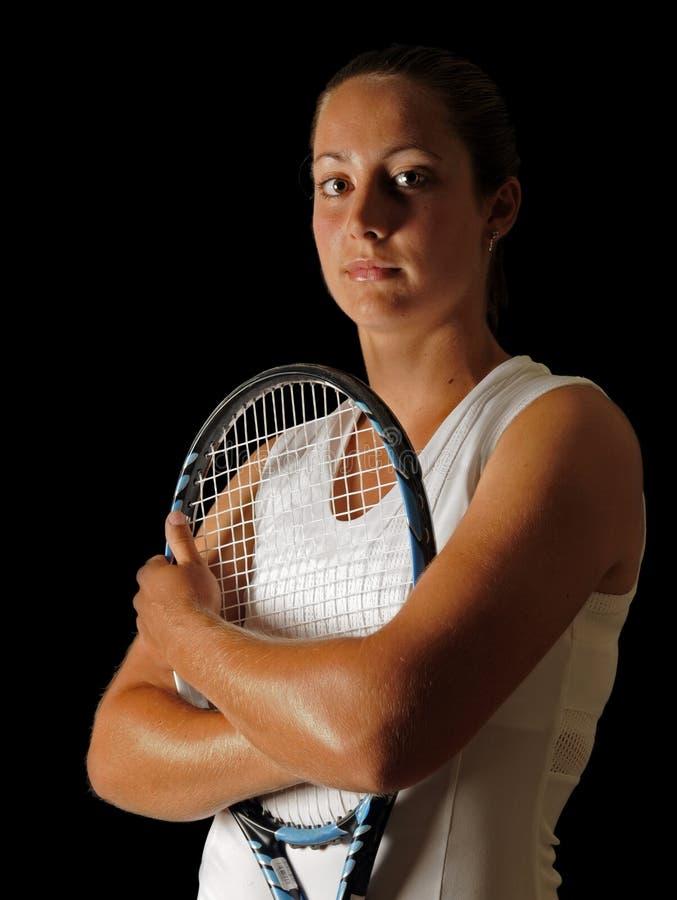 Jeune professionnel de tennis images stock