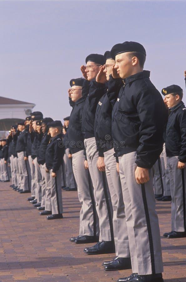 Jeune salutation de cadets photos libres de droits