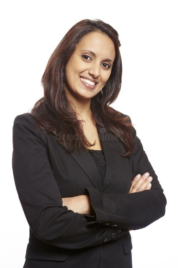 Jeune sourire adulte asiatique de femme d'affaires image stock