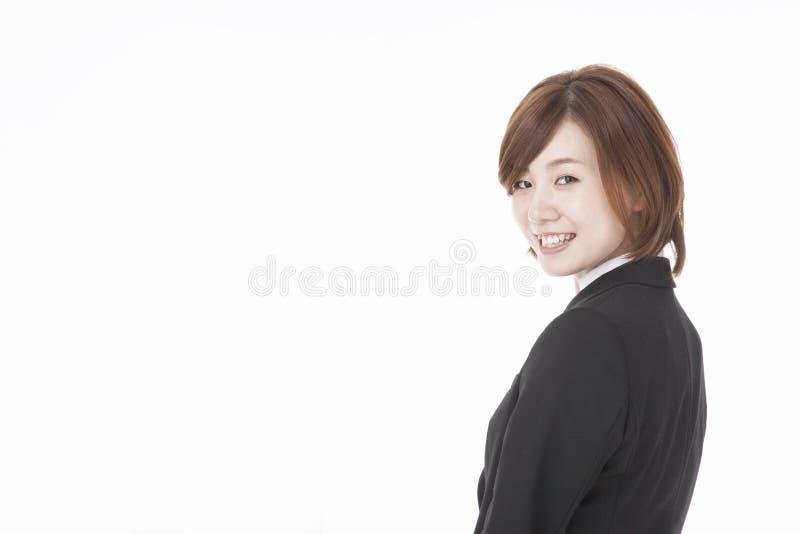 Jeune sourire de femme d'affaires photos libres de droits
