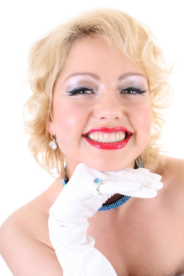 Jeune sourire de femme de blondie photos stock