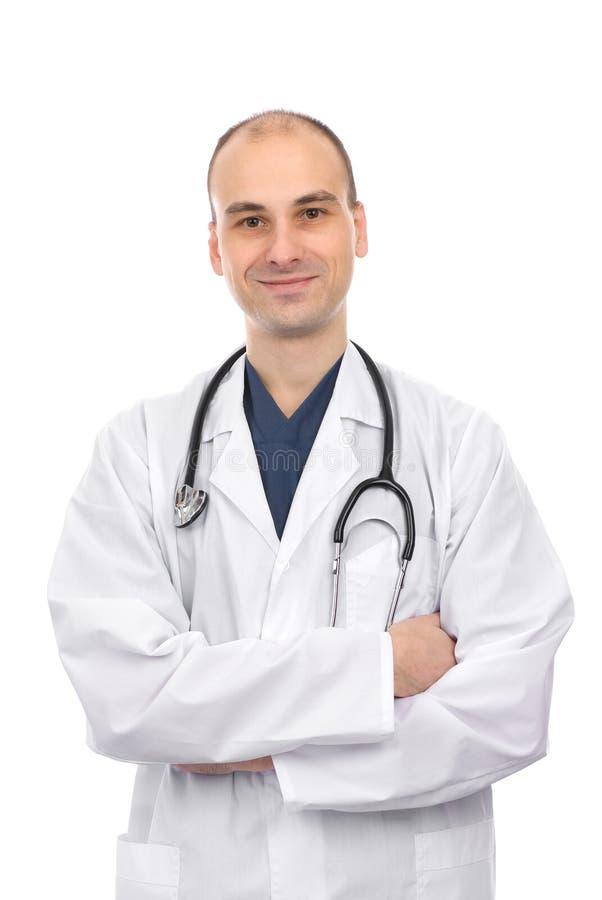 Jeune sourire heureux de docteur photographie stock libre de droits