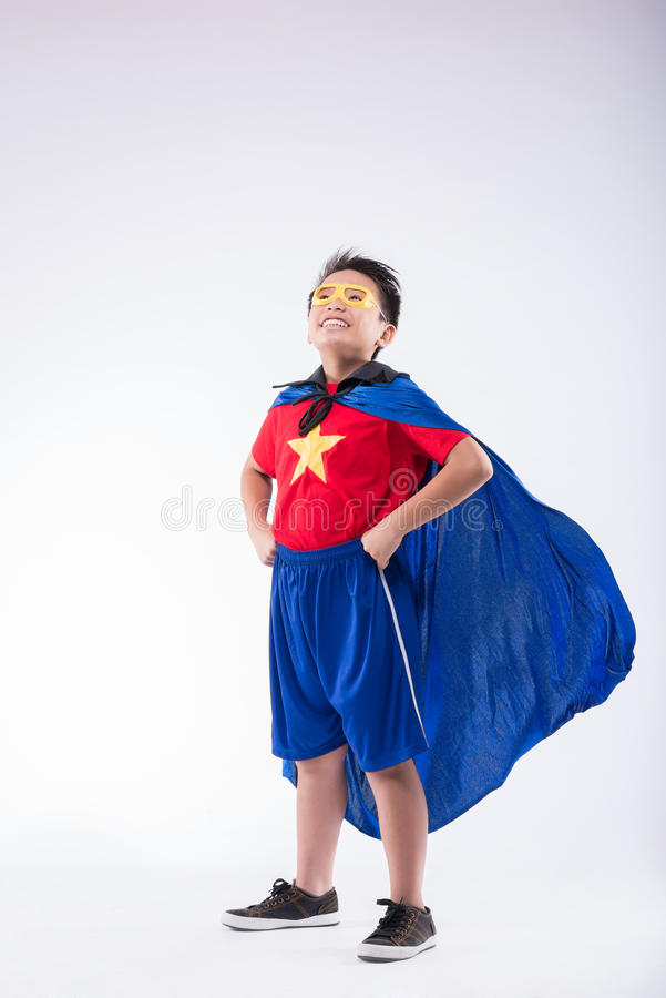 Jeune superhero image stock