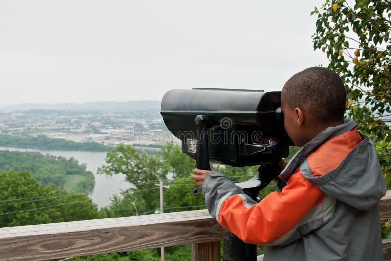 Jeune touriste d'Afro-américain photos libres de droits