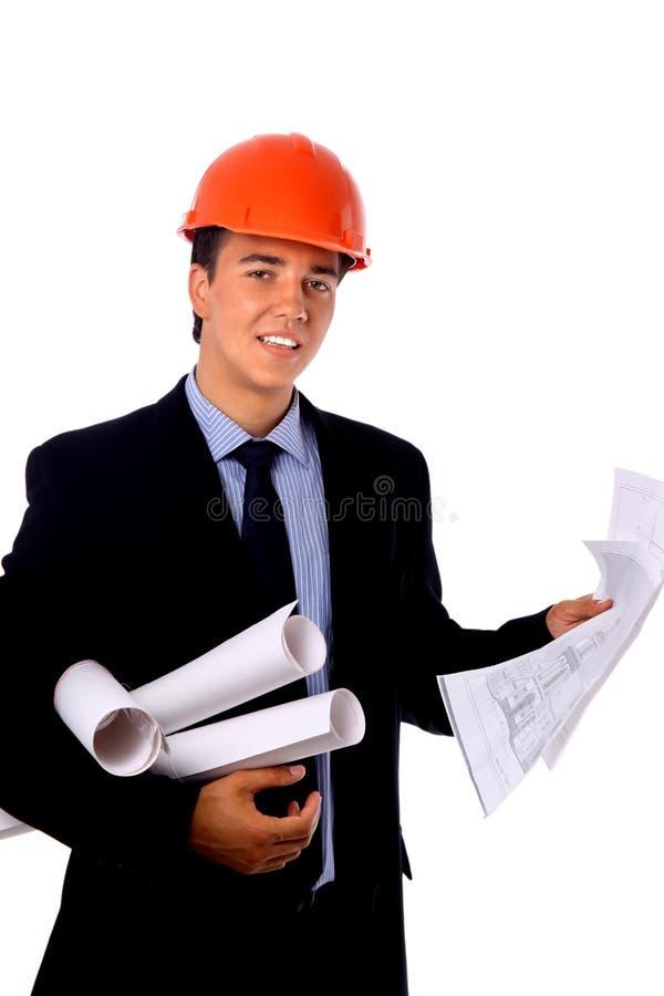 Jeune travailleur de la construction photo libre de droits