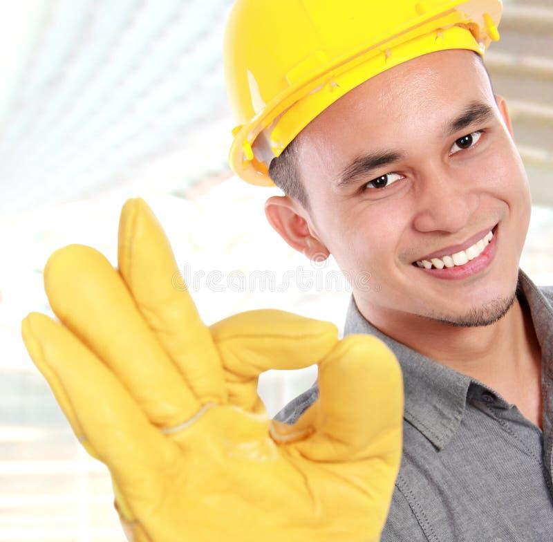 Jeune travailleur de sourire photos libres de droits