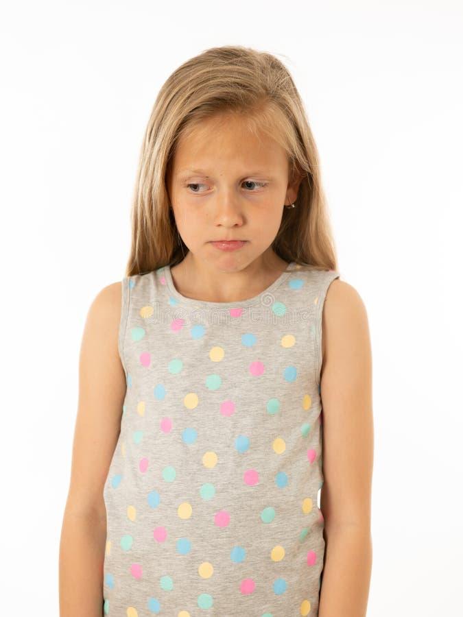 Jeune, triste, malheureuse, impuissante fille fatiguée souffrant de la dépression Émotions humaines, bulling images libres de droits