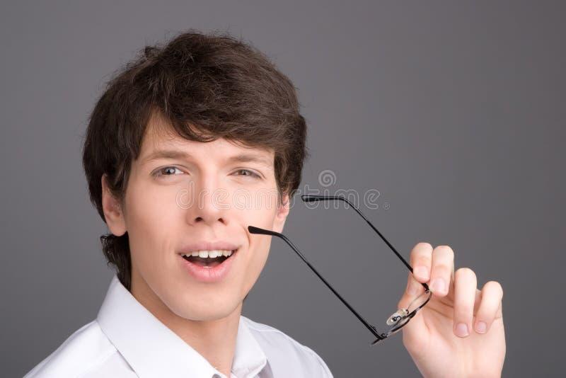 Jeune verticale d'homme d'affaires photo stock
