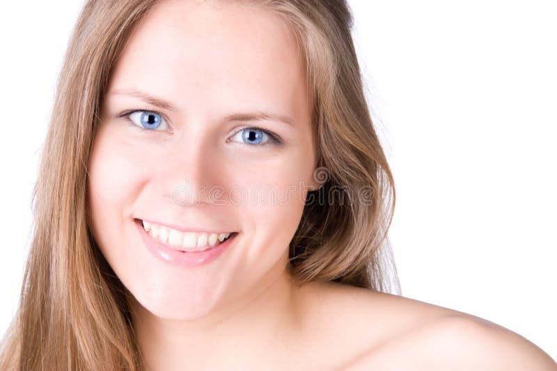 Jeune verticale heureuse de femme photographie stock