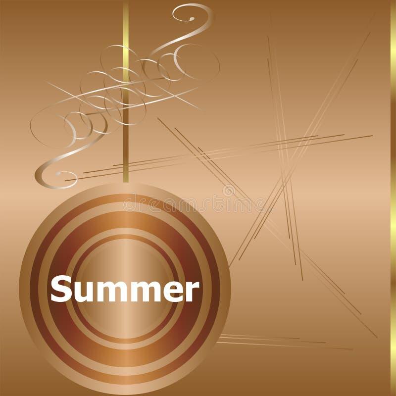Jeunes adultes mot d'été sur le fond de luxe d'or illustration libre de droits