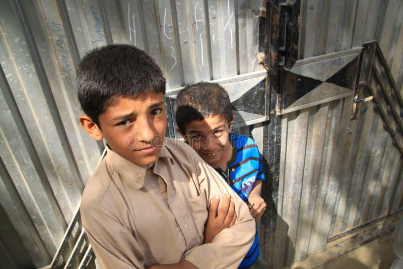 Jeunes Afghans photo stock