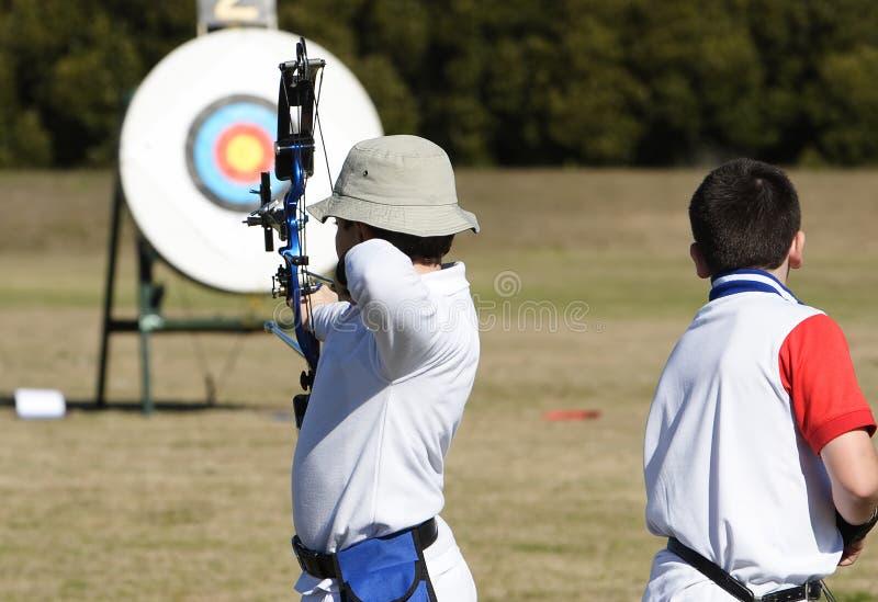 Jeunes archers photos stock