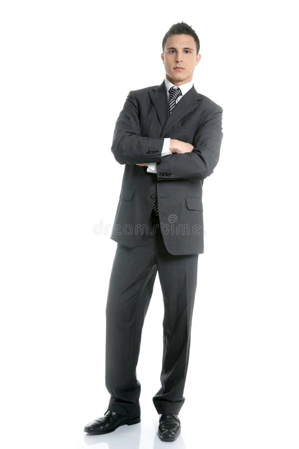 jeunes blancs comiques intégraux d'homme d'affaires photographie stock