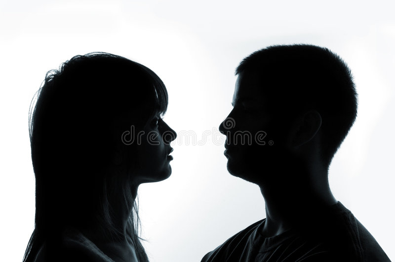 Jeunes couples photo libre de droits