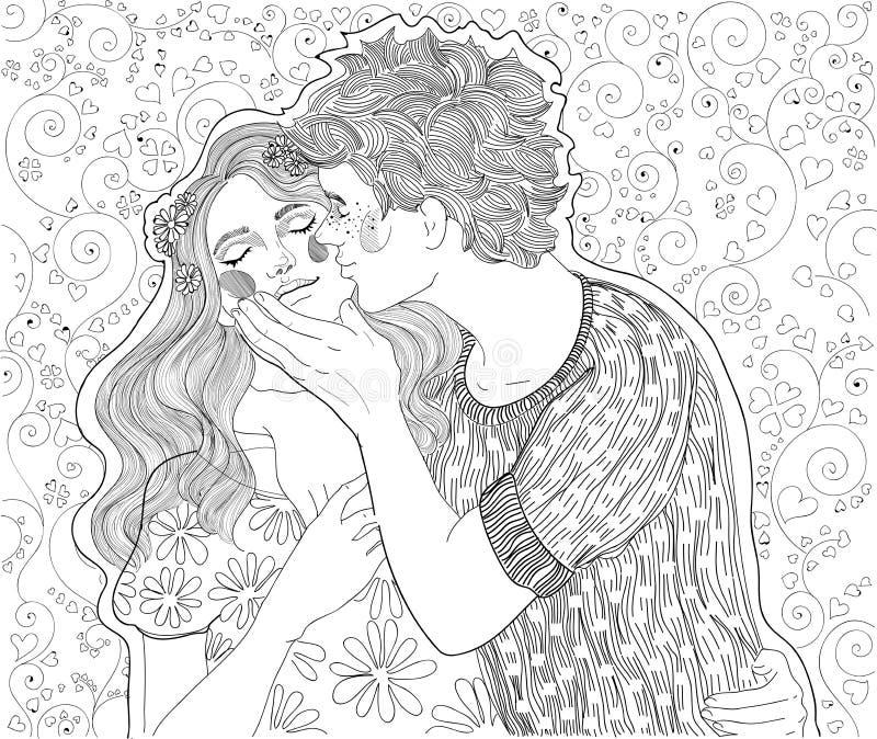 Jeunes couples illustration de vecteur