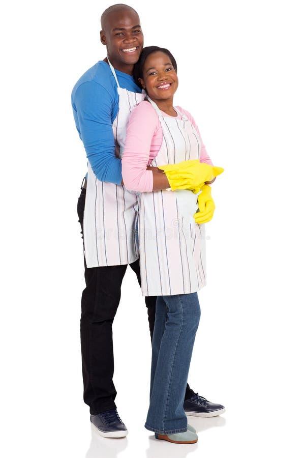 Jeunes couples afro-américains photographie stock libre de droits