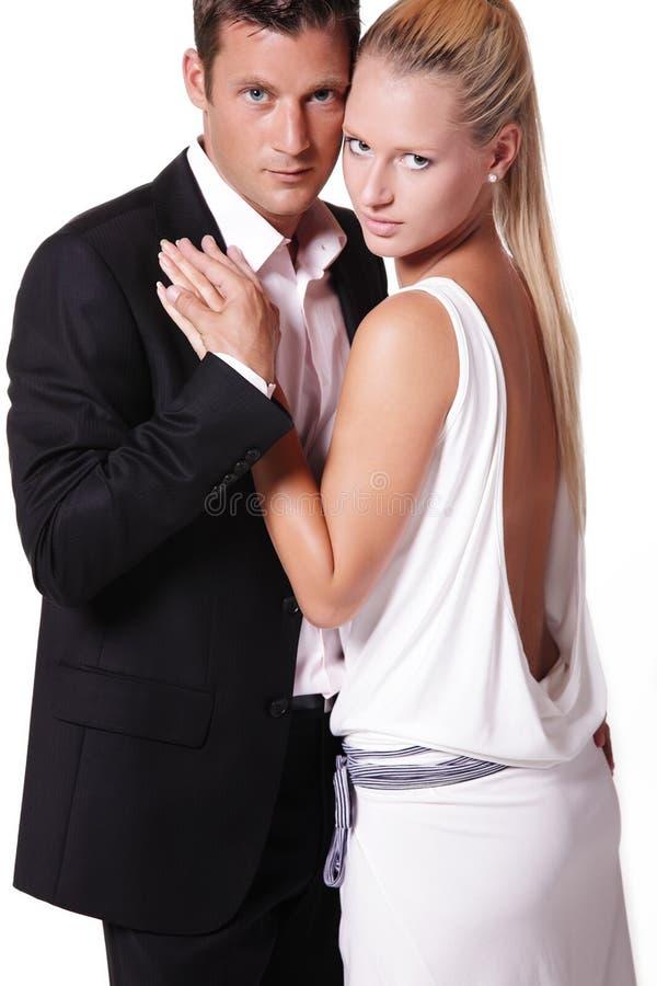 Jeunes couples attrayants photo stock
