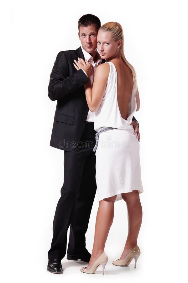 Jeunes couples attrayants photographie stock libre de droits