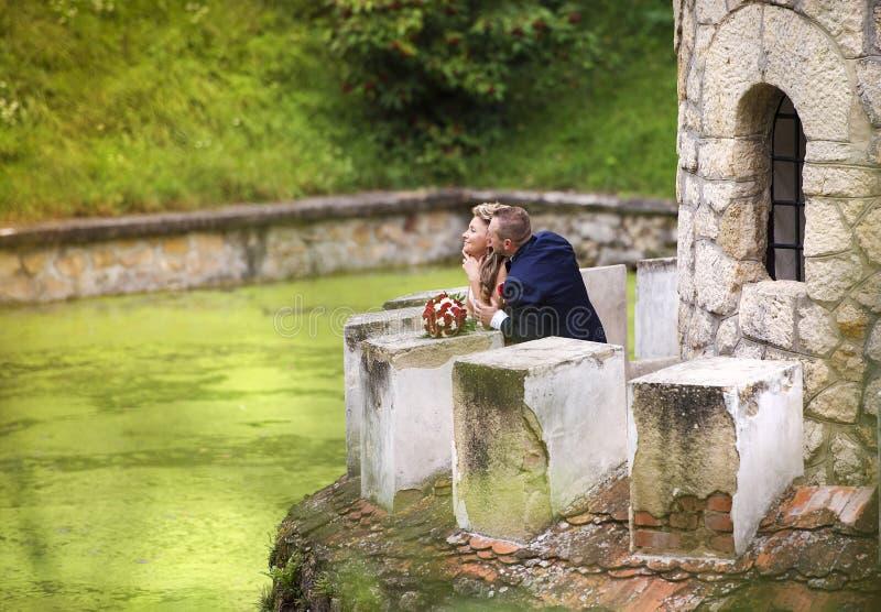 Jeunes couples de mariage images stock