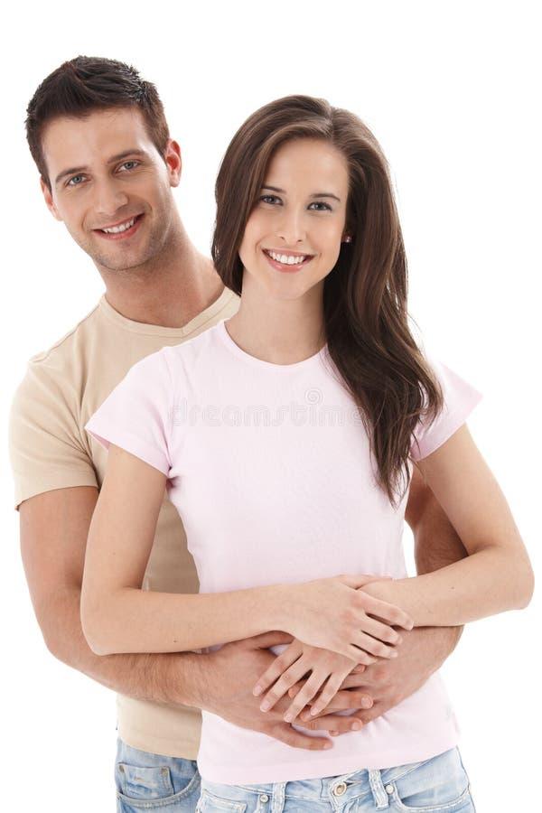 Jeunes couples de sourire image libre de droits
