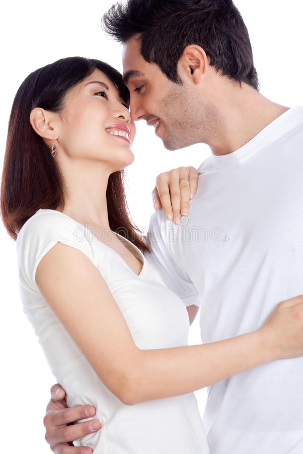 Jeunes couples divers image stock