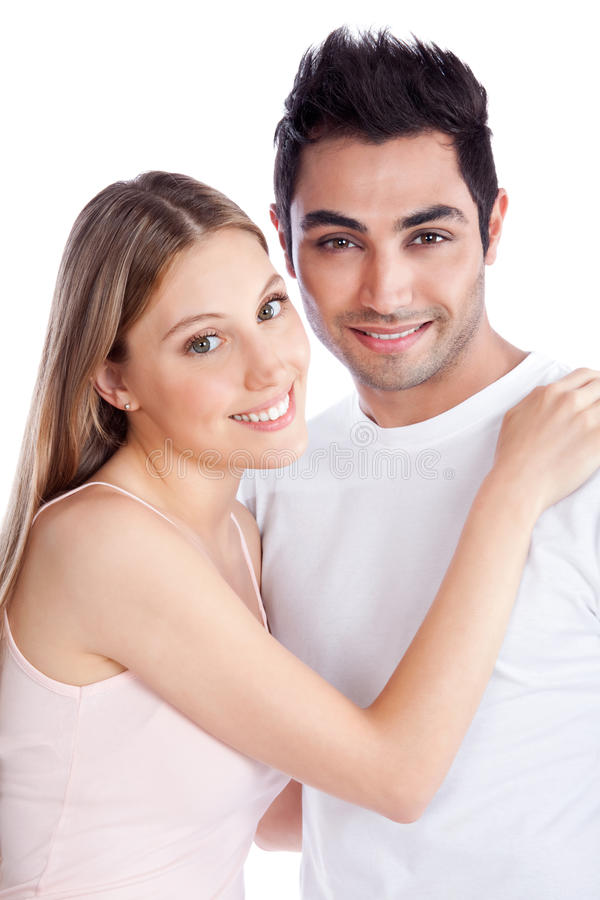 Jeunes couples divers photo stock