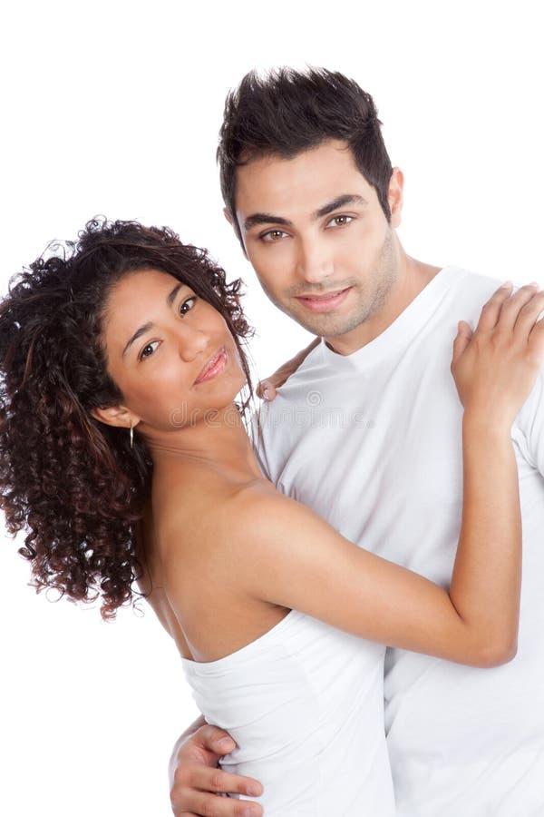 Jeunes couples divers photographie stock libre de droits