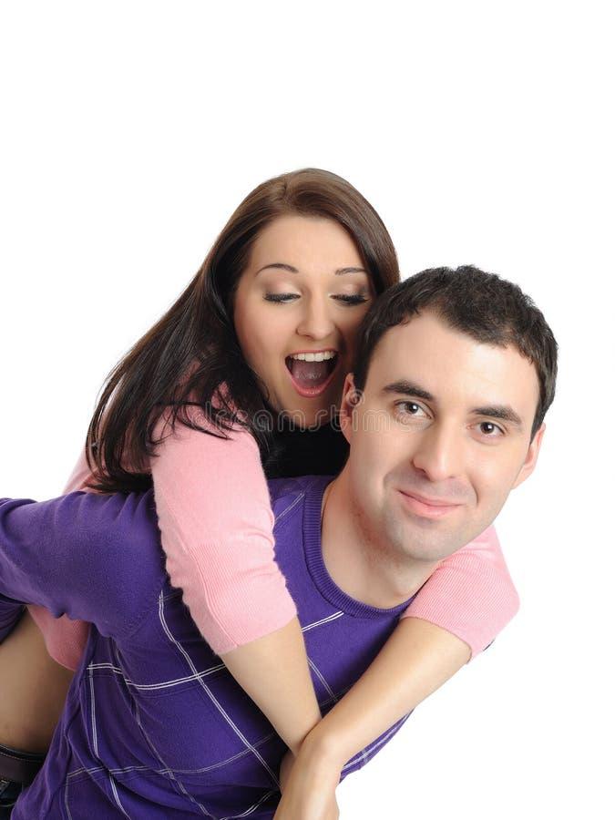 Jeunes couples doux dans l'amour photographie stock libre de droits