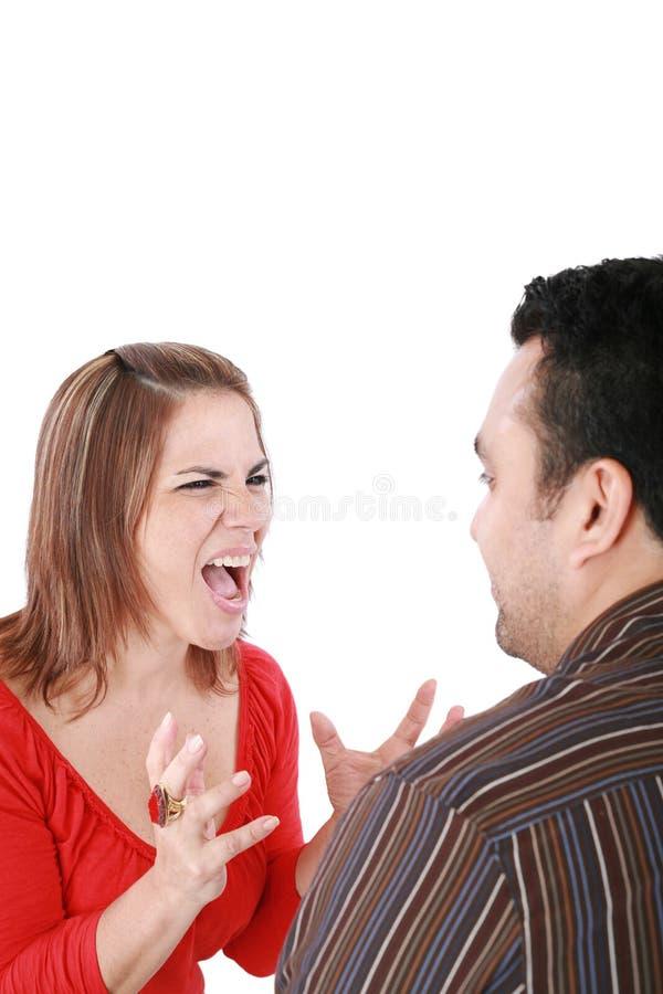 Jeunes couples en conflit image libre de droits