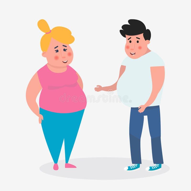 Jeunes couples ensemble Loisirs heureux Illustration de vecteur illustration libre de droits
