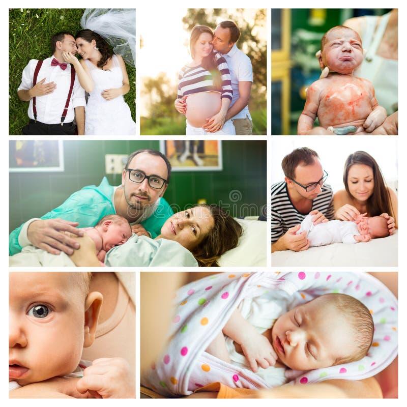 Jeunes couples et bébé photographie stock libre de droits