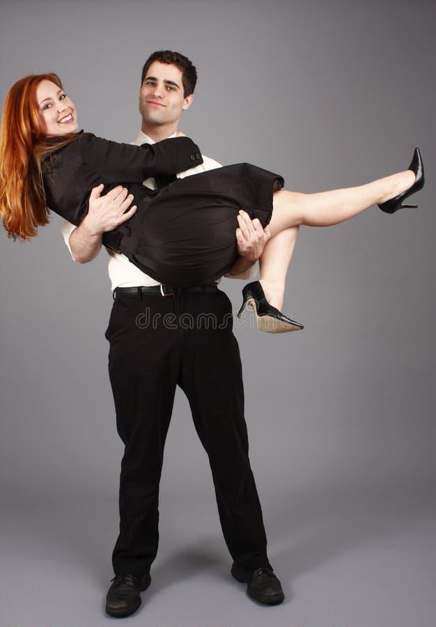 Jeunes couples heureux photos stock