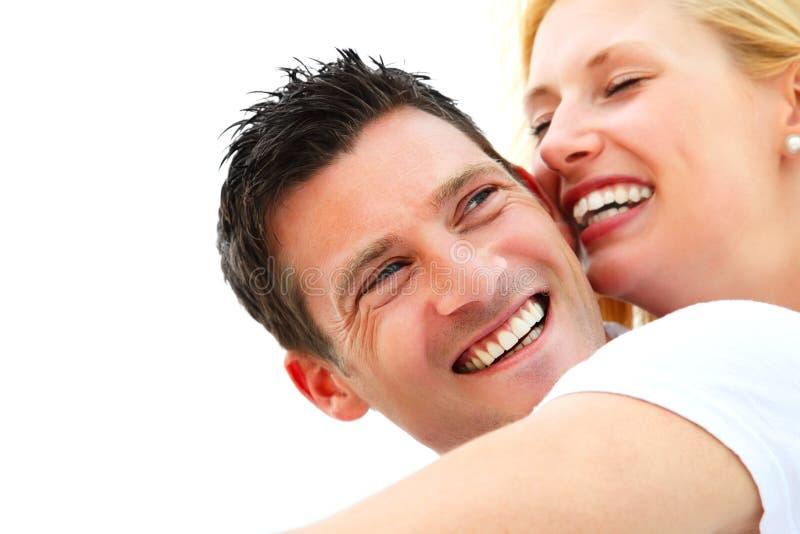 Jeunes couples heureux images libres de droits
