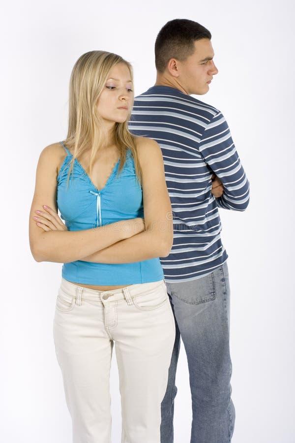 Jeunes couples offensés photo libre de droits
