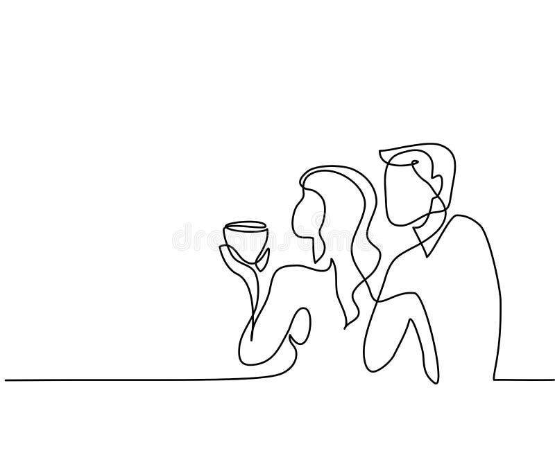 Jeunes couples se tenant sur le balcon illustration stock